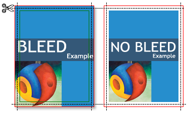 bleed vs. no bleed illustration