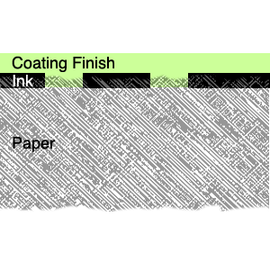 uncoated paper printed, coating finish