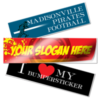 Bumper Stickers - Oval and Round